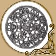 Large Silver Viking Brooch in Borre Style